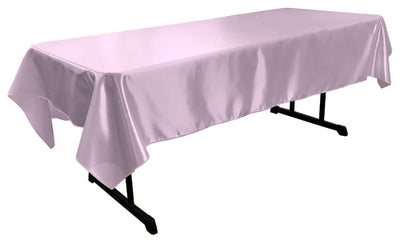 Lilac Bridal Satin Rectangular Tablecloth 60 x 108