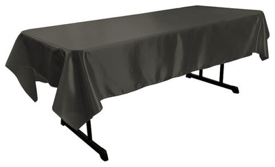 Black Bridal Satin Rectangular Tablecloth 60 x 108