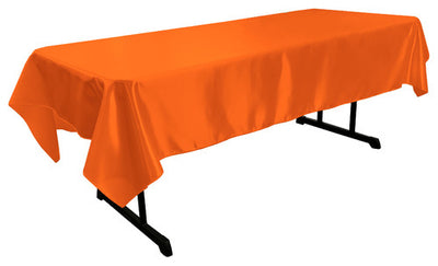 Orange Bridal Satin Rectangular Tablecloth 60 x 108