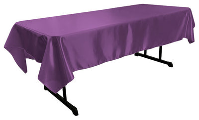 Purple Bridal Satin Rectangular Tablecloth 60 x 108