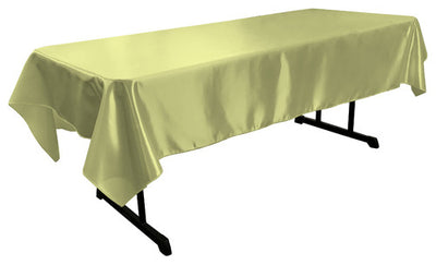 Sage Bridal Satin Rectangular Tablecloth 60 x 108