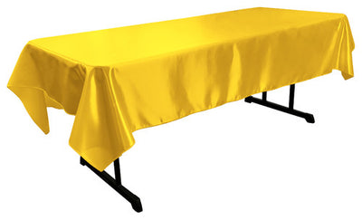 Yellow Bridal Satin Rectangular Tablecloth 60 x 108