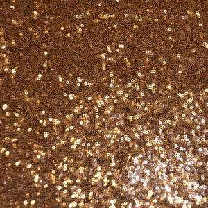 Copper Mini Glitz Sequin Mesh Fabric