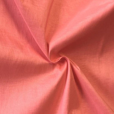Coral Stretch Taffeta Fabric