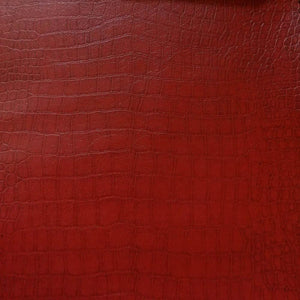 Burgundy Crocodile 100% PU Soft Skin Faux Leather Vinyl Fabric