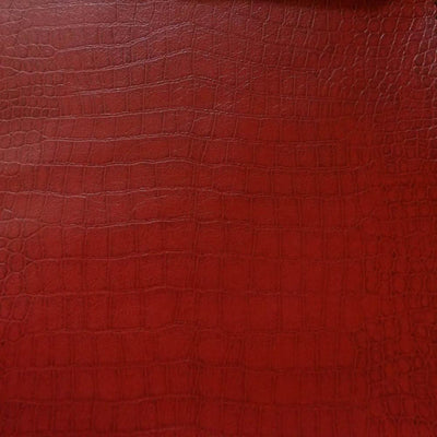 Burgundy Crocodile 100% PU Soft Skin Faux Leather Vinyl Fabric / 40 Yards Roll
