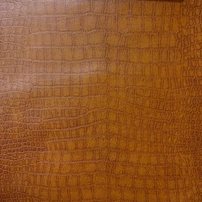 Saddle Crocodile 100% PU Soft Skin Faux Leather Vinyl Fabric / 40 Yards Roll