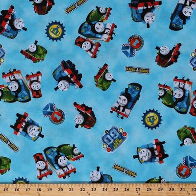 Disney Thomas Friends Train 100% Cotton Fabric