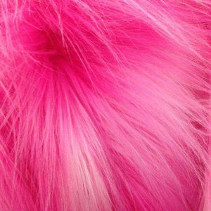 Neon Fuschia Faux Fake Fur Solid Shaggy Long Pile Fabric