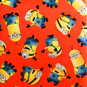 Despicable Me Orange Tossed Minions 100% Cotton Print Fabric
