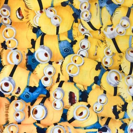 Yellow Packed Despicable Me Minions 100% Cotton Print Fabric