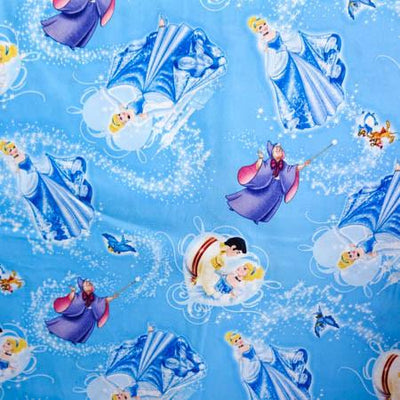Disney Princess Cinderella 100% Cotton Print Fabric