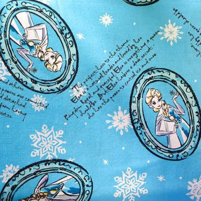 Disney Princess Frozen Elsa 100% Cotton Print Fabric
