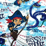 "Disney Jake & The Neverland Pirates Danger From The Deep Blue 100% Cotton Print Fabric, 45"" Inches Wide"