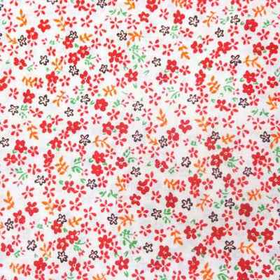 Red Mini Flower Poly Cotton Fabric