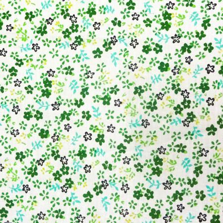 Green Mini Flower Poly Cotton Fabric