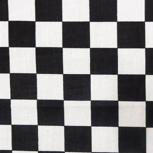 "2"" Two Inch Black Racing Checkered Poly Cotton Fabric"