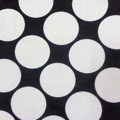 Giant Polka Dot Pink on White Poly Cotton Fabric