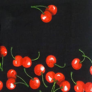 Black Cherry Toss Poly Cotton Fabric