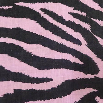 Zebra Pink Poly Cotton Fabric