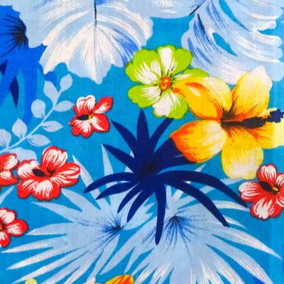 Hawaiian Floral Mix Poly Cotton Fabric