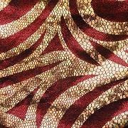 Red Gold Mystique Swirl Stretch Spandex