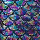 Silver Multicolored Large Mermaid Fish Scale