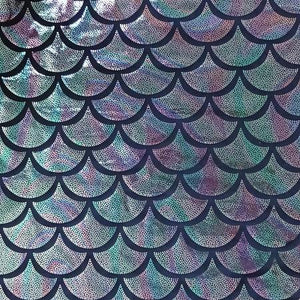 Silver Purple Green Large Mermaid Fish Scale