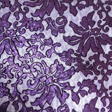 Purple Beyonce Lace Fabric - Evening Gown Lace