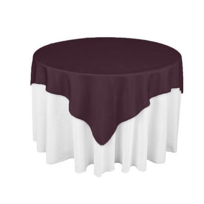 Violet  Eggplant Square Overlay Tablecloth 60