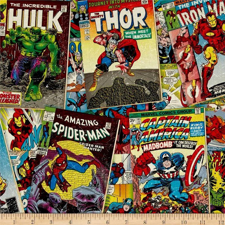 Marvel Comics Comic Fury Cover 100% Cotton Fabric