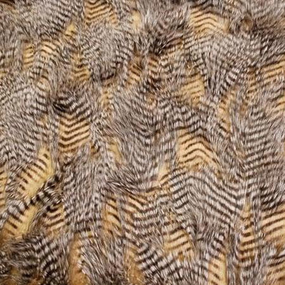 Brown Faux Feathered Fur Fabric