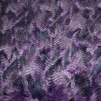 Purple Alaskan Huskies Faux Fur Fabric