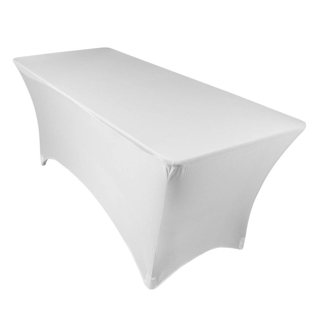 White Spandex Tablecloth
