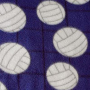Volleyball Blue Premium Anti Pill Print Fleece Fabric