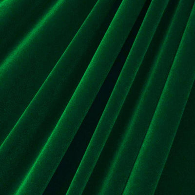 Hunter Green Upholstery Grade Flocking Velvet Fabric / 50 Yards Roll