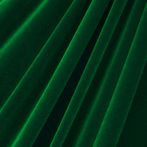 Hunter Green Upholstery Grade Flocking Velvet Fabric