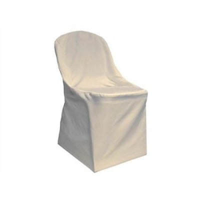 Ivory Polyester Folding Chair Cover