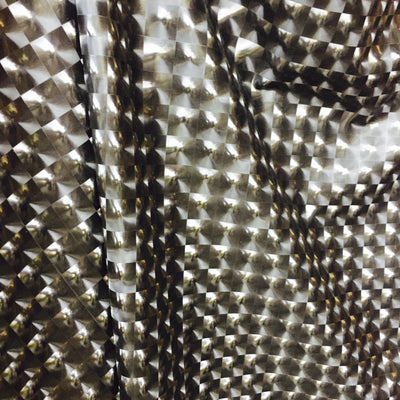 3D Black Optical Tiles 4-Way Stretch Spandex Fabric