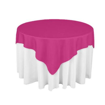 Fuschsia Square Overlay Tablecloth 60