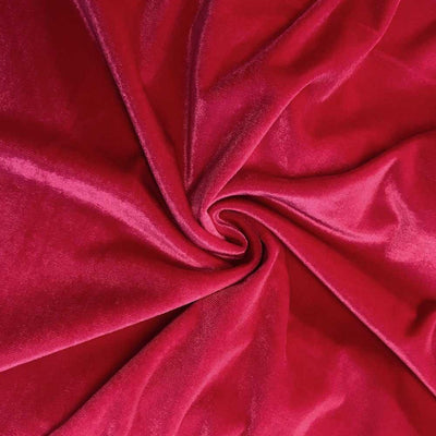 Fuschia Velvet Stretch Fabric
