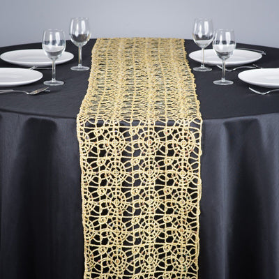 Gold Chemical lace Table Runners