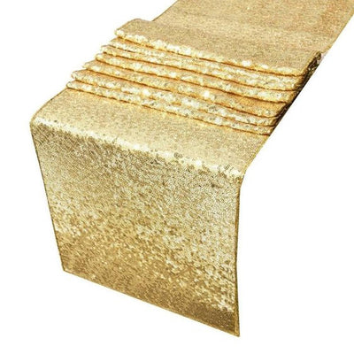 Gold Glitz Sequin Table Runner