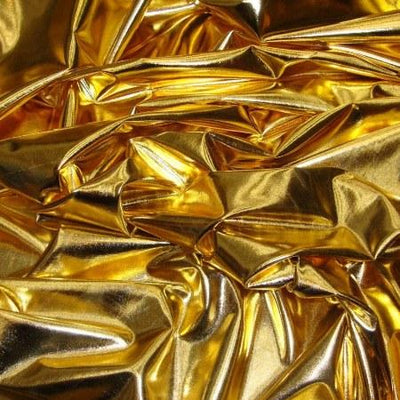 Gold Spandex Lame Foil Stretch Metallic Fabric