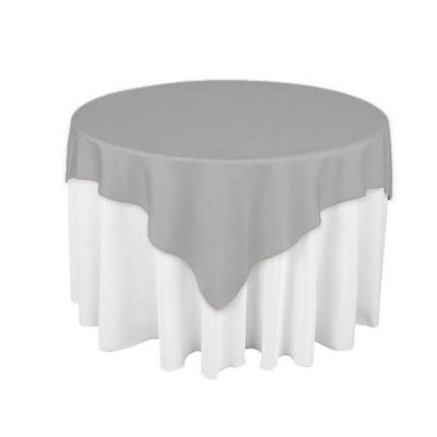 Heather Grey Square Overlay Tablecloth 60