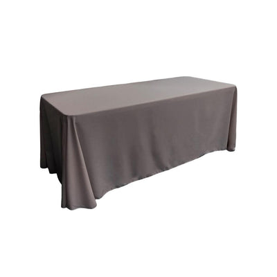 Charcoal 100% Polyester Rectangular Tablecloth 90