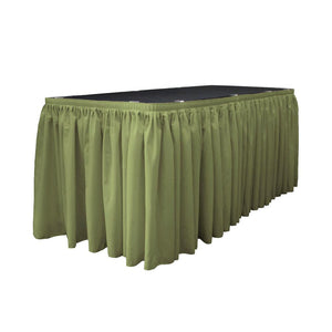 14 Ft. x 29 in. Dark Sage Accordion Pleat Polyester Table Skirt