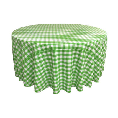 Lime Polyester Checkered Round 108