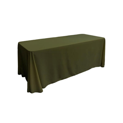 Olive 100% Polyester Rectangular Tablecloth 90