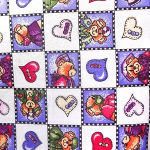 Heart Doctor Teddy Poly Cotton Fabric